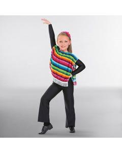 Poncho Mexicain Multicolore pour Enfant