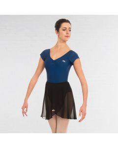 ABD Ballet Grades 5+ Justaucorps Indigo à Manches Très Courtes