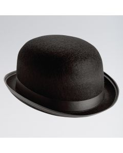 Chapeau Melon en Feutre Noir