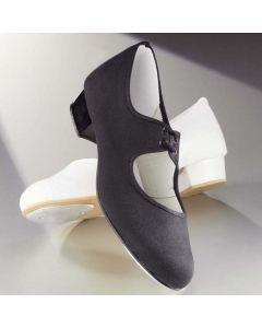 1st Position Chaussures de Claquettes en Toile à Petit Talon