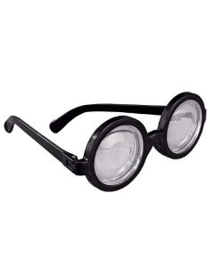 Lunettes Noires Rondes - les verres magiques donnent l`effet de vision double