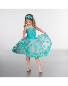 1st Position Robe de Danse Classique avec Fleurs Pailletées