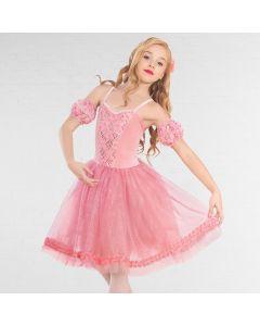 1st Position Robe de Ballet Pailletée avec Jupe Brillante