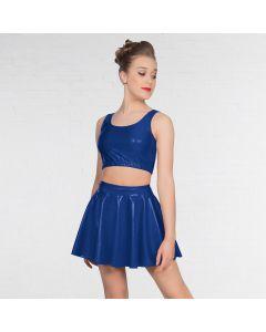 1st Position Metallic Circular Skirt Royal Blue