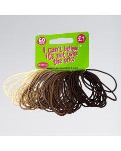 60 Elastiques pour Cheveux Chatains/Blonds