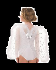 Ailes ornées de plumes blanches