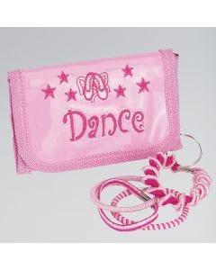 Porte-monnaie Rose avec Porte-clés « Dance »