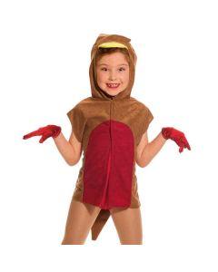 Tabard de Rouge-gorge à Capuche - Taille Unique Enfant