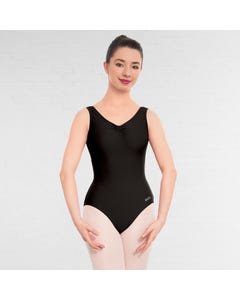 NATD Grade 5 Sleeveless Ruched Front Lined leotard