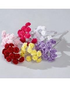 Ruban de Roses Lot de 12 Fleurs