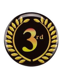 3rd Place Autocollant de Trophée Couronne de Feuilles