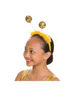 Antennes à paillettes dorées