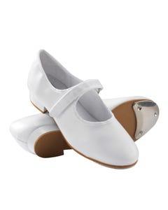 1st Position Chaussures de Claquettes Blanches en Polyuréthane à Scratch