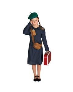 Costume de Réfugié de la 2nd Guerre Mondiale pour fille
